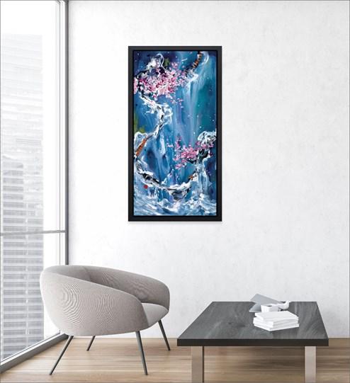 Trilogy of Wonder II by Danielle O'Connor Akiyama - Limited Edition Glazed Box Canvas wall setting